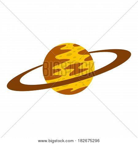 Saturn icon flat isolated on white background vector illustration