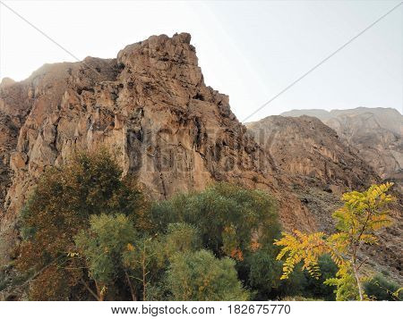 Kargah Buddha Rock Carving, Carved Image of Buddha Statue On Mountain Rock In Gilgit, Gilgit-Baltistan, Northern Pakistan