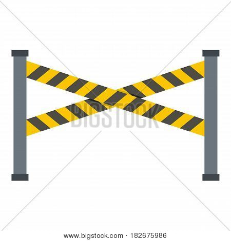 Police line icon flat isolated on white background vector illustration