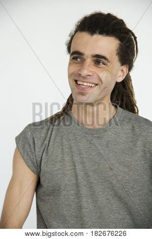dreadlocks man standing portrait