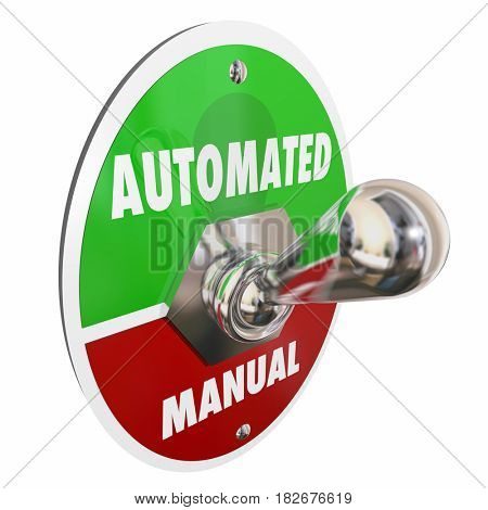 Automated Vs Manual Tasks Work Automation 3d Illustration