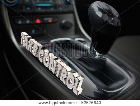 Take Control Car Gear Shift Drive Leadership Management 3d Illustration