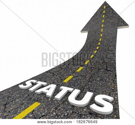Status Rising Road Arrow Up Increase 3d Illustration