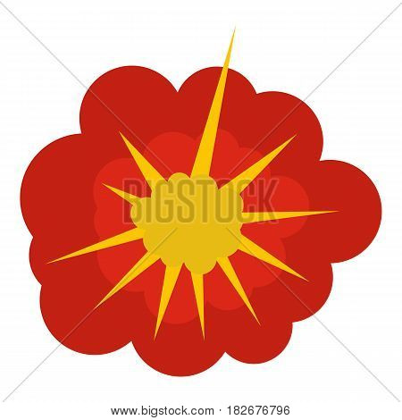 Cloudy explosion icon flat isolated on white background vector illustration