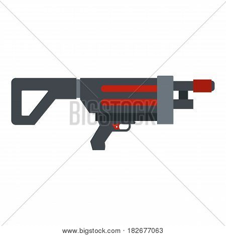 Game gun icon flat isolated on white background vector illustration