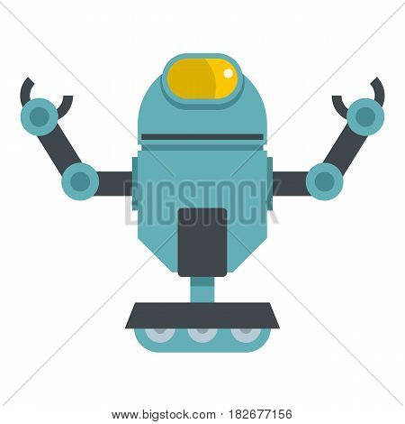 Machine robot icon flat isolated on white background vector illustration