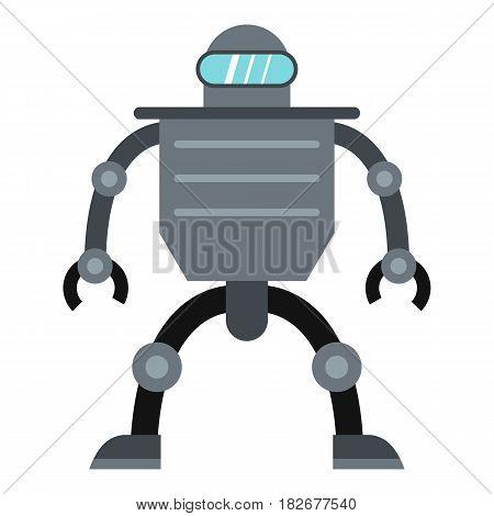Cyborg robot icon flat isolated on white background vector illustration