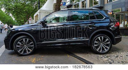BERLIN - JUNE 05 2016: Compact crossover SUV Volkswagen Tiguan 2016. Classic Days Berlin 2016.