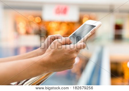 Finger touch on mobile phone