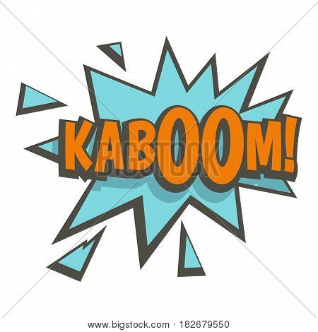 Kaboom, comic text sound effect icon flat isolated on white background vector illustration