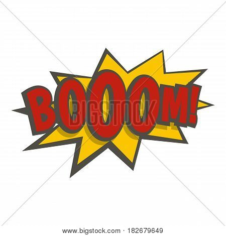 Boom, explosion icon flat isolated on white background vector illustration
