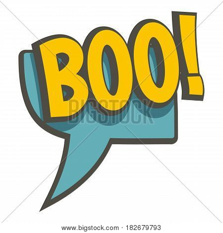 BOO, speech bubble icon flat isolated on white background vector illustration
