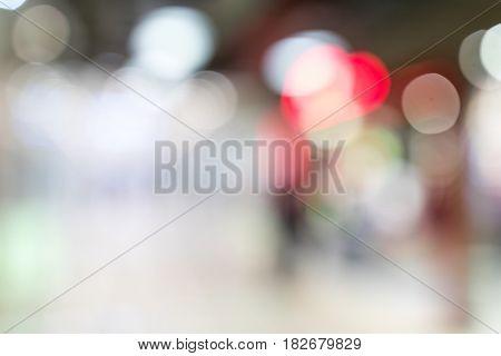Blur background of station hall