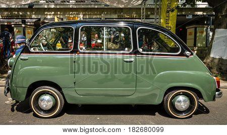 BERLIN - JUNE 05 2016: Mini MPV Fiat 600 Multipla. Classic Days Berlin 2016.