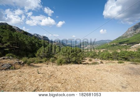 Views of Grazalema Natural Park from Boyar Mountain Pass, Cadiz, Andalusia, Spain