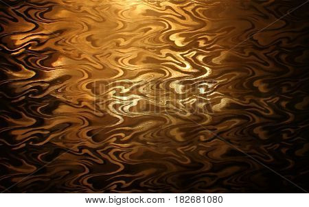 Rays of the sun making their way through the glass give it a special shade of gold lines divergences, texture , abstract