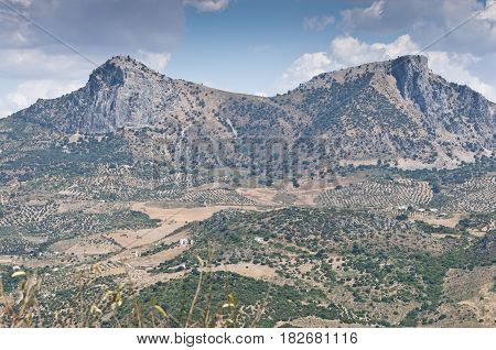 Views of Grazalema Natural Park from Zahara de la Sierra town, Cadiz, Andalusia, Spain