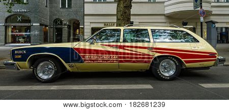 BERLIN - JUNE 05 2016: Mid-size car Buick Century 4-door station wagon (Third generation) 1977. Classic Days Berlin 2016.