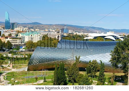 View Of Rike Park With Public Service Hall In Tbilisi, Georgia