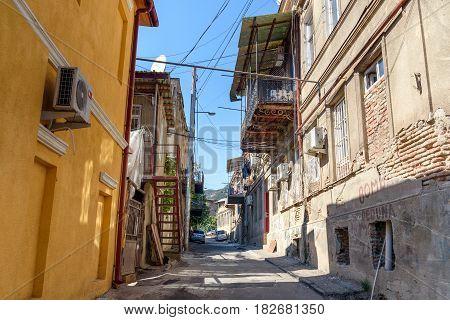 Street Of Old City In Tbilisi, Georgia