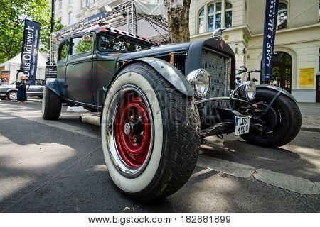 BERLIN - JUNE 05 2016: Custom car Hot Rod. Classic Days Berlin 2016.