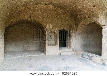 Tamara's Room In Vardzia Cave Monastery. Georgia
