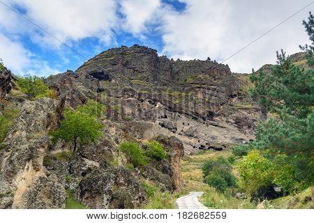 Vanis Kvabebi Cave Monastery. Georgia