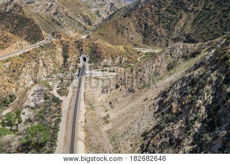 Railroad In Southern Desert