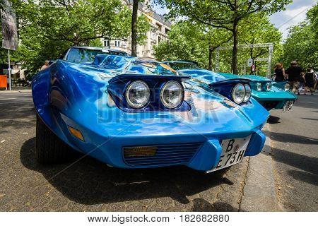 BERLIN - JUNE 05 2016: Sports car Chevrolet Corvette Stingray Coupe