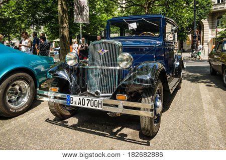 BERLIN - JUNE 05 2016: Vintage car Hanomag 4/23 PS. Classic Days Berlin 2016.