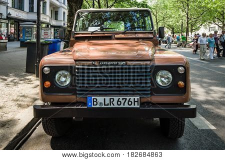 BERLIN - JUNE 05 2016: Off-road vehicle Land Rover Defender 1983. Classic Days Berlin 2016.