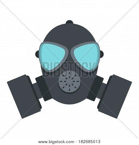 Gas mask icon flat isolated on white background vector illustration