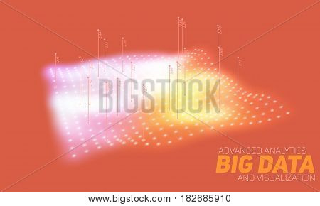 Big data plot colorful visualization. Futuristic infographic. Information aesthetic design. Visual data complexity. Complex data threads graphic visualization. Social network. Abstract data graph.