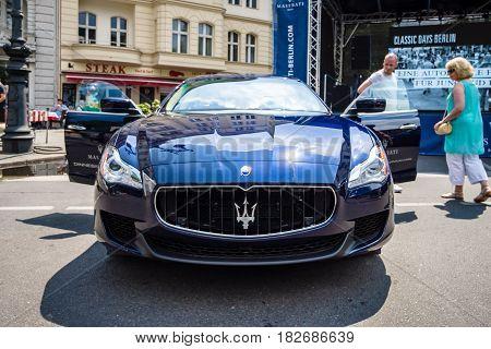 BERLIN - JUNE 05 2016: Full-size luxury car Maserati Quattroporte VI since 2013. Classic Days Berlin 2016