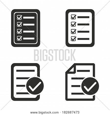 Order vector icons set. Black illustration isolated for graphic and web design.