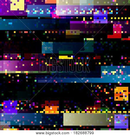 Glitch abstract background with colorful technology malfunction