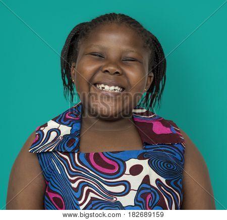 Young Woman Smile Face Expression Studio Portrait