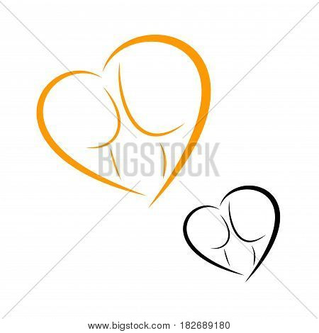 logos of childbirth and motherhood. Family Logo Design Template