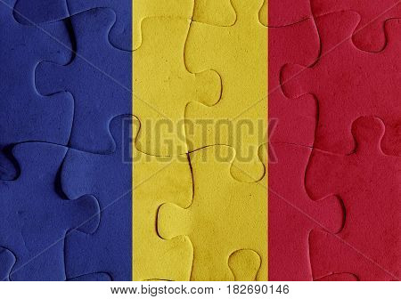 Republic Of Chad Flag Puzzle