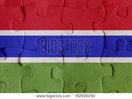 Gambia Flag Puzzle