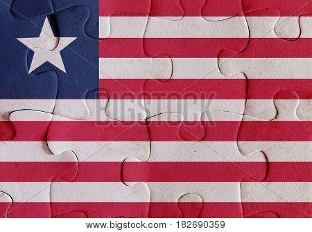 Liberia Flag Puzzle