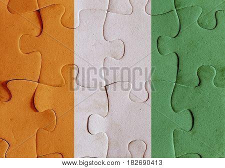 Ivory Coast Flag Puzzle