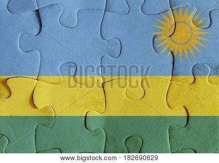 Republic Of Rwanda Flag Puzzle