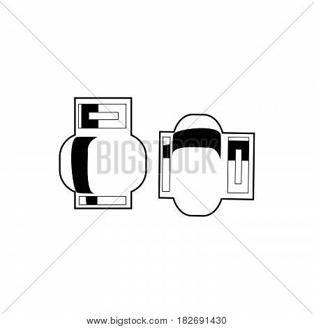 Flat Black Gas Cylinders Icon