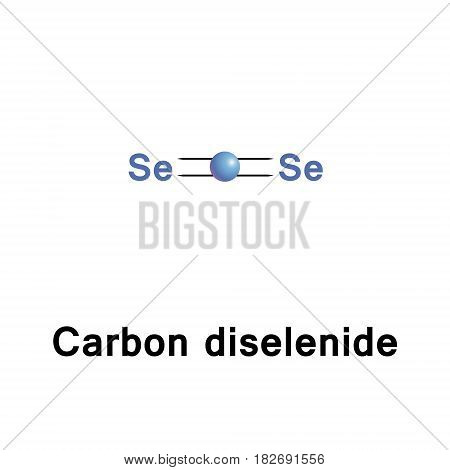 Carbon diselenide is an inorganic compound with the chemical formula CSe2. This light-sensitive compound is insoluble in water and soluble in organic solvents