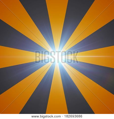 Lens Flare Gradient Radial Orange