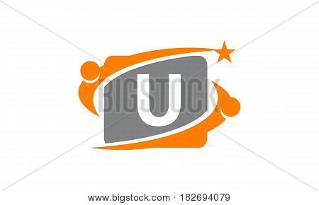 This vector describe about Career Coaching Initial U