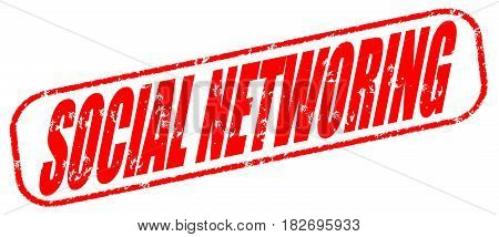 Social networking on the white background, red illustration