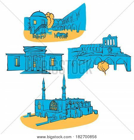 Nicosia.cyprus Colored Landmarks