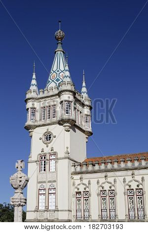 Sintra, Portugal, April 7, 2017 : The Municipal Building Of Sintra. The City Is Known For Its Many 1